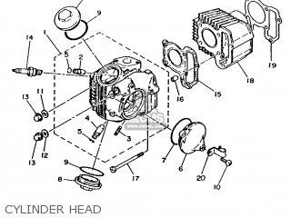 Yamaha T50 1986 2fm England 262fm-310e1 Cylinder Head
