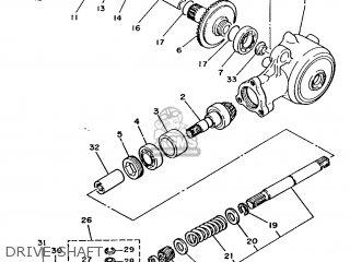 Yamaha T50 1986 2fm England 262fm-310e1 Drive Shaft