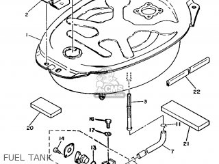 Yamaha T50 1986 2fm England 262fm-310e1 Fuel Tank
