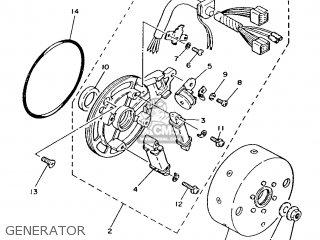 Yamaha T50 1986 2fm England 262fm-310e1 Generator