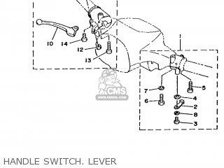 Yamaha T50 1986 2fm England 262fm-310e1 Handle Switch  Lever