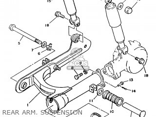 Yamaha T50 1986 2fm England 262fm-310e1 Rear Arm  Suspension