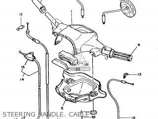 Yamaha T50 1986 2fm England 262fm-310e1 Steering Handle  Cable