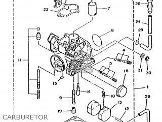 Yamaha T80 1986 2fl England 262fl-310e1 Carburetor