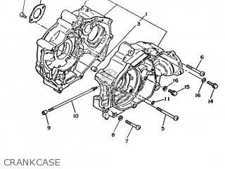 Yamaha T80 1986 2fl England 262fl-310e1 Crankcase
