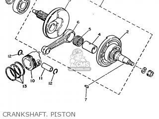 Yamaha T80 1986 2fl England 262fl-310e1 Crankshaft  Piston