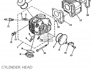 Yamaha T80 1986 2fl England 262fl-310e1 Cylinder Head