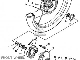 Yamaha T80 1986 2fl England 262fl-310e1 Front Wheel
