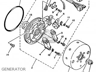 Yamaha T80 1986 2fl England 262fl-310e1 Generator