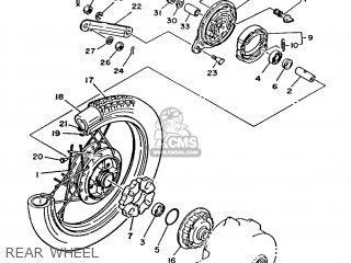 Yamaha T80 1986 2fl England 262fl-310e1 Rear Wheel