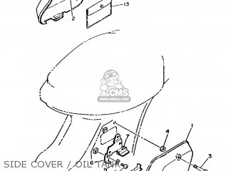 Yamaha T80 1986 2fl England 262fl-310e1 Side Cover   Oil Tank