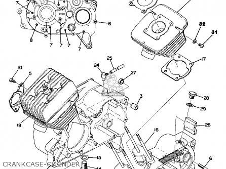 Yamaha Ta125 Usa Crankcase-cylinder