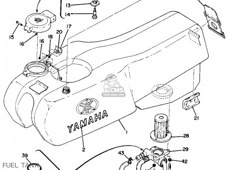 Yamaha Ta125 Usa Fuel Tank