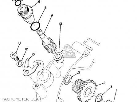 Yamaha Ta125 Usa Tachometer Gear