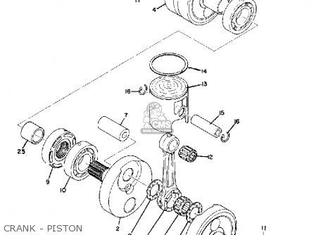 Yamaha Td3 1972 1973 1974 Usa Crank - Piston