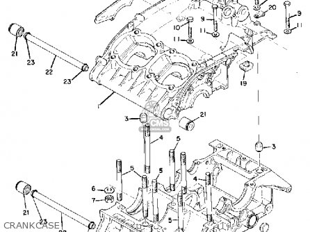 Yamaha Td3 1972 1973 1974 Usa Crankcase