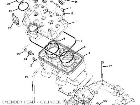 Yamaha Td3 1972 1973 1974 Usa Cylinder Head - Cylinder Tz250 tz350