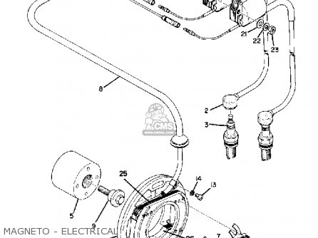 Yamaha Td3 1972 1973 1974 Usa Magneto - Electrical