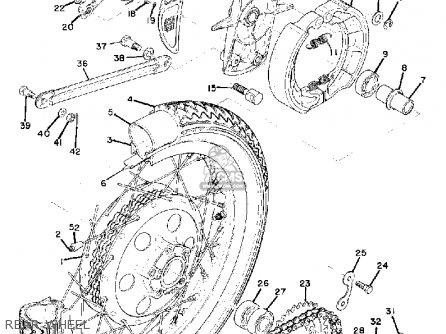 Yamaha Td3 1972 1973 1974 Usa Rear Wheel