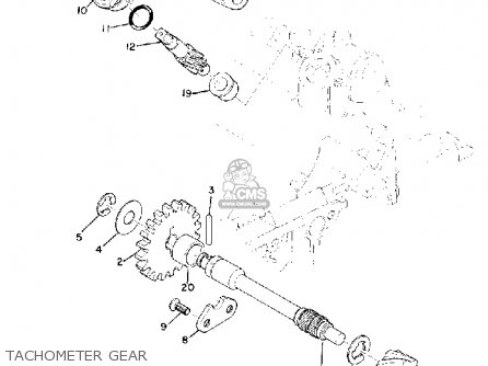 Yamaha Td3 1972 1973 1974 Usa Tachometer Gear