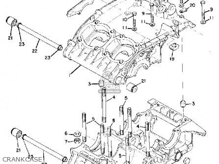 Yamaha Tr3 1972 1973 1974 Usa Crankcase