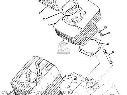 Yamaha Tr3 1972 1973 1974 Usa Cylinder Head - Cylinder Td3 tr3