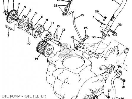 yamaha tt500 offroad 1976 usa oil pump - oil filter