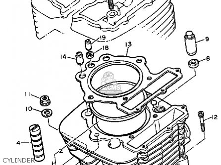 Yamaha Timberwolf 250 Parts Diagram