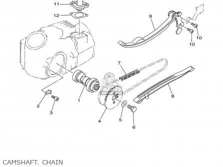 Yamaha Tt90r Tt90rc 2000 y Usa California Camshaft  Chain