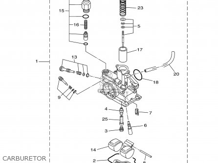 Yamaha Tt90r Tt90rc 2000 y Usa California Carburetor