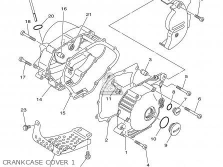 Yamaha Tt90r Tt90rc 2000 y Usa California Crankcase Cover 1
