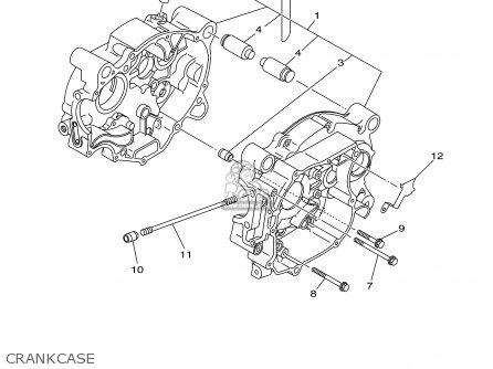 Yamaha Tt90r Tt90rc 2000 y Usa California Crankcase