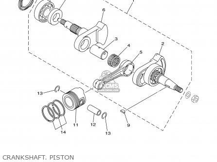 Yamaha Tt90r Tt90rc 2000 y Usa California Crankshaft  Piston