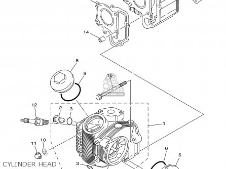 Yamaha Tt90r Tt90rc 2000 y Usa California Cylinder Head