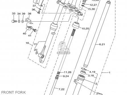 Yamaha Tt90r Tt90rc 2000 y Usa California Front Fork