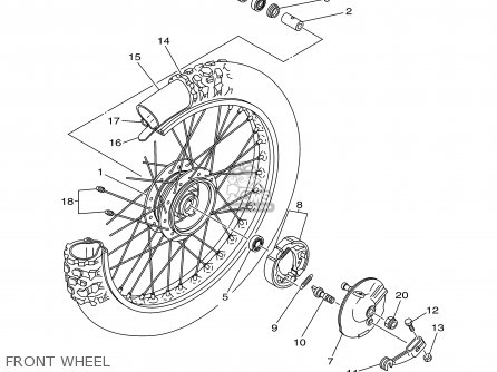 Yamaha Tt90r Tt90rc 2000 y Usa California Front Wheel