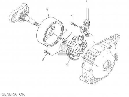 Yamaha Tt90r Tt90rc 2000 y Usa California Generator