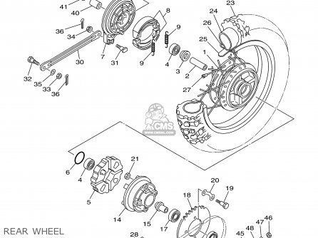 Yamaha Tt90r Tt90rc 2000 y Usa California Rear Wheel