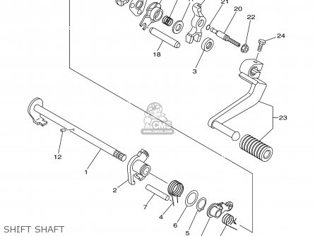 Yamaha Tt90r Tt90rc 2000 y Usa California Shift Shaft