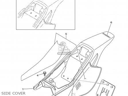 Yamaha Tt90r Tt90rc 2000 y Usa California Side Cover