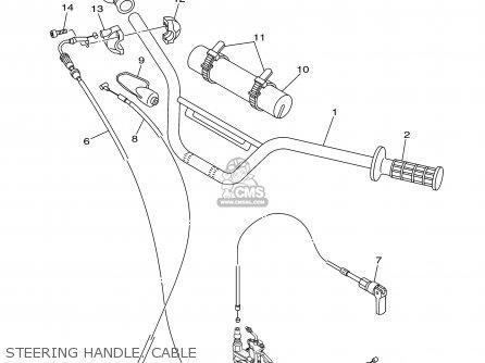 Yamaha Tt90r Tt90rc 2000 y Usa California Steering Handle  Cable