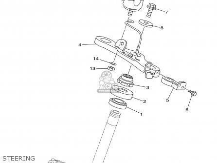 Yamaha Tt90r Tt90rc 2000 y Usa California Steering