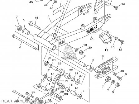 yamaha ttr125 ttr125l 2003 3 usa large wheel model parts lists Yamaha TTR 225 rear arm
