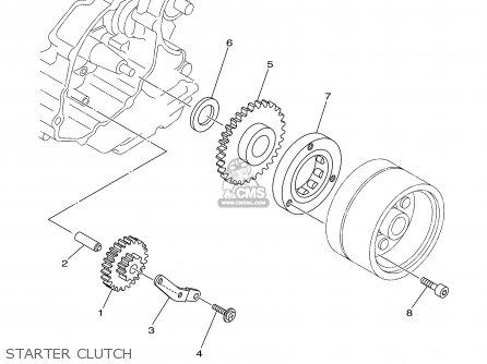 Yamaha Ttr Erlwer Starter Clutch Mediumyau B A on Yamaha Yz 125 Engine Diagram