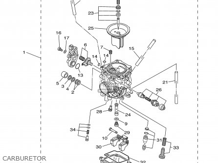 Yamaha ttr225n nc 2001 parts list partsmanual partsfiche for Yamaha ttr 230 carburetor for sale