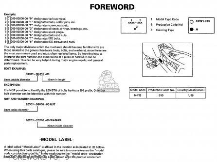 Yamaha Ttr90 Offroad 2002 2 Usa Parts List Partsmanual