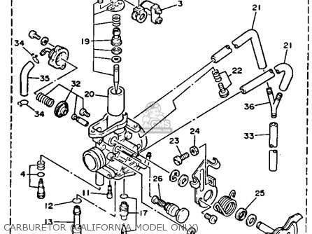 Yamaha Tw200 Carburetor Schematic