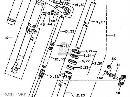 yamaha tw200t trailway 1987 parts list partsmanual partsfiche