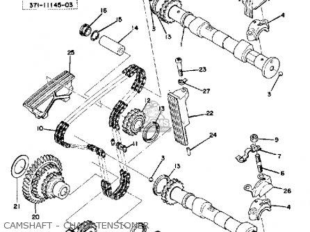 Yamaha Tx500 1973 Usa Camshaft - Chain Tensioner