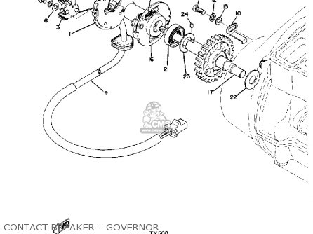 Yamaha Tx500 1973 Usa Contact Breaker - Governor